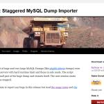 WCAデータベースのMySQLへのインポートにはBigDumpを使うと高速で楽